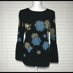 Apt.9 Bell Sleeve Top Floral NWT